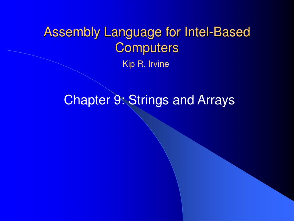 assembly language for intel based computers l.