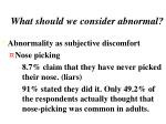 what should we consider abnormal4