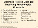 business related changes impacting psychological contracts