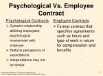 psychological vs employee contract