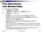 list operations list membership