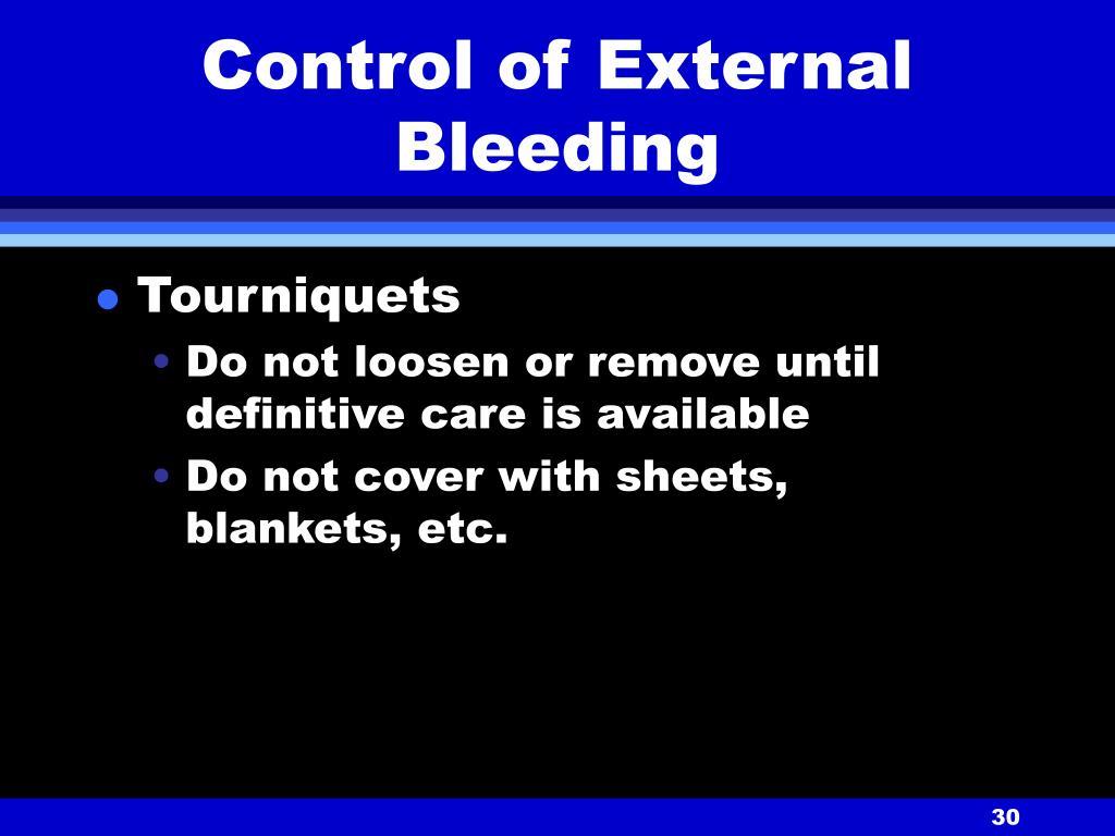 Control of External Bleeding