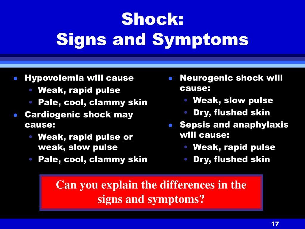 Hypovolemia will cause