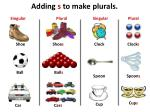 adding s to make plurals