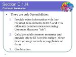 section d 1 h common measures