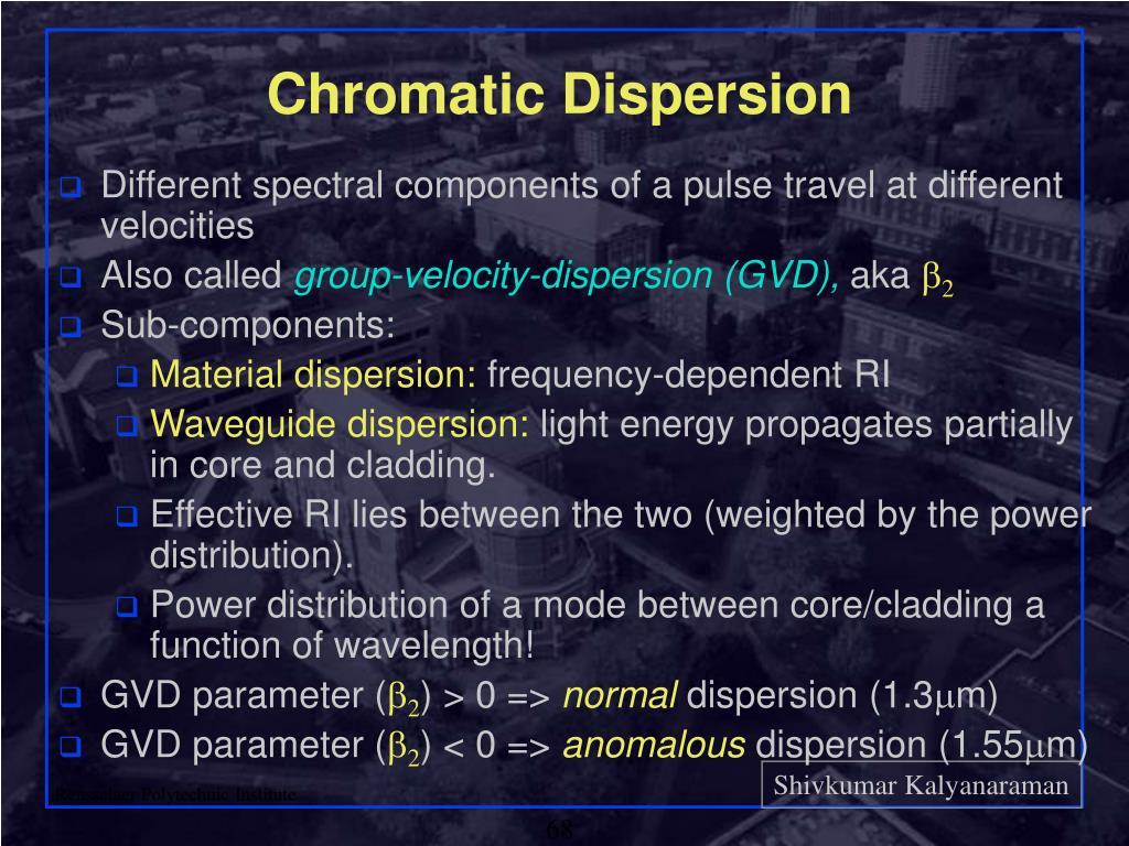 Chromatic Dispersion