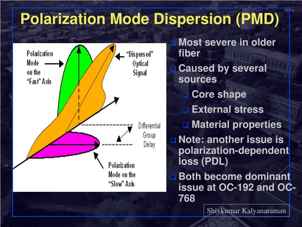 Polarization Mode Dispersion (PMD)