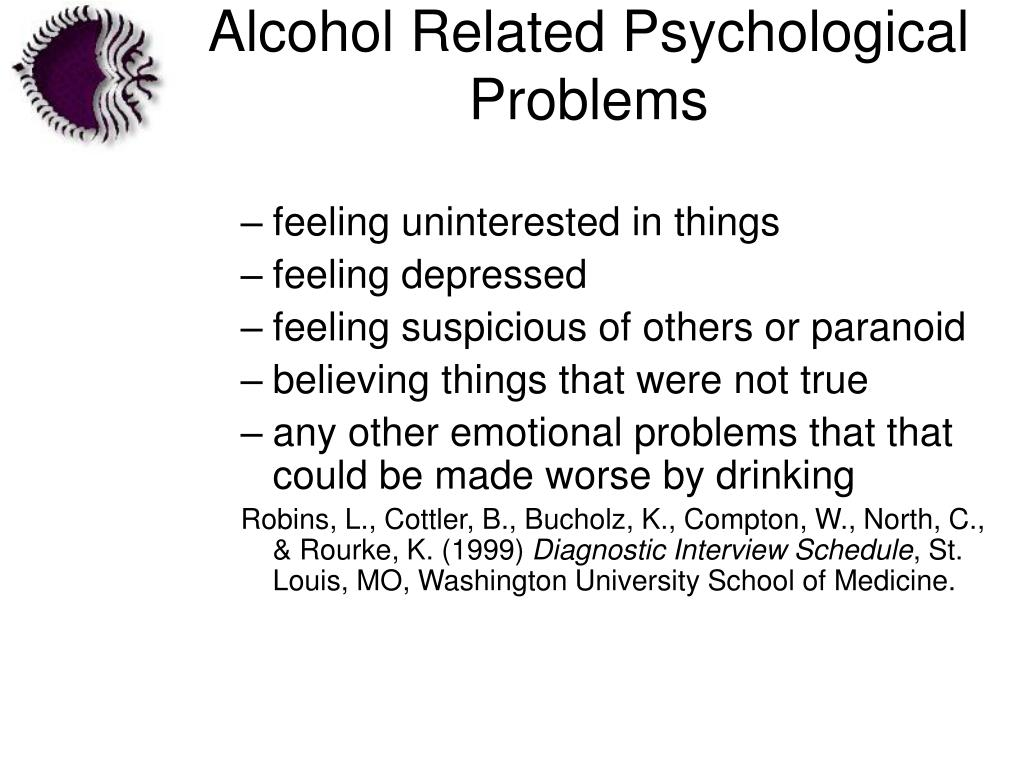 Alcohol Related Psychological Problems