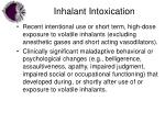 inhalant intoxication
