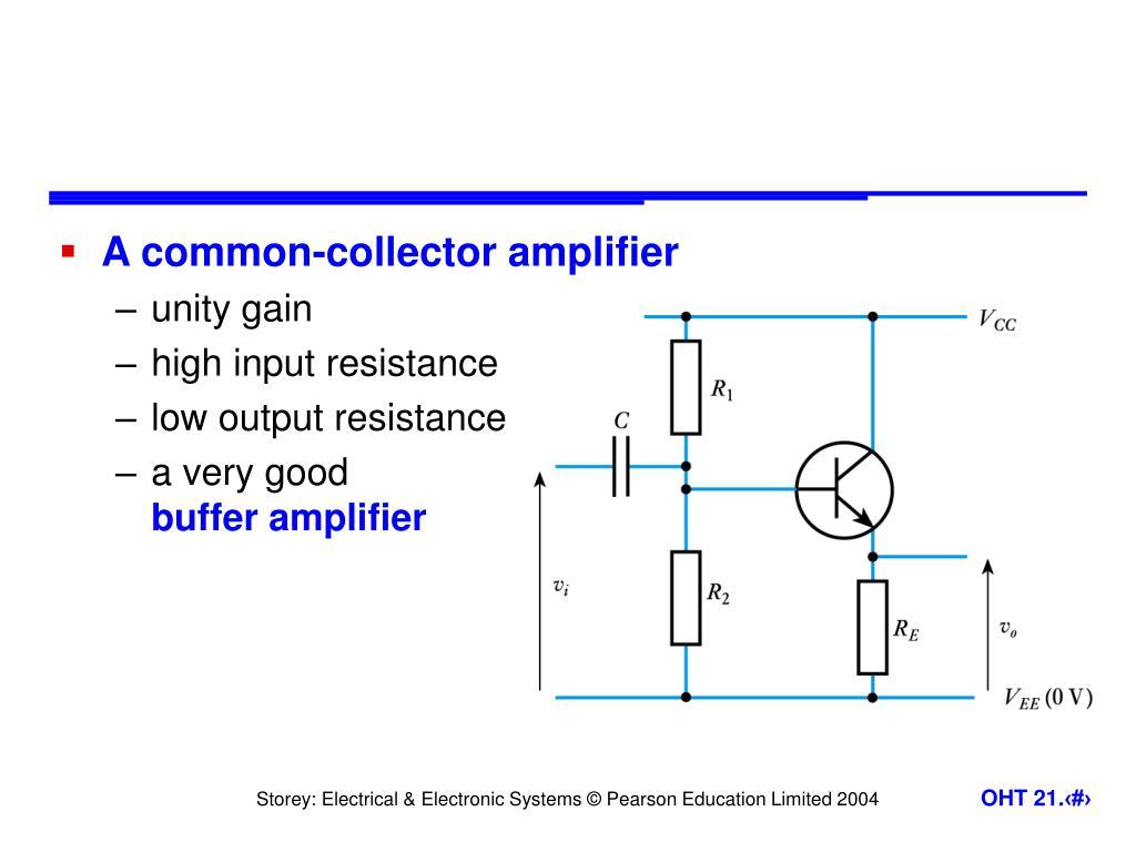 Npn Transistor Common Collector Amplifier Simple Circuit Diagram