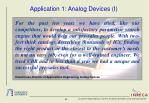 application 1 analog devices i