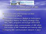 high level coordination of abc implementation3