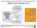 width aware narrow cca