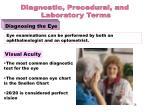 diagnosing the eye