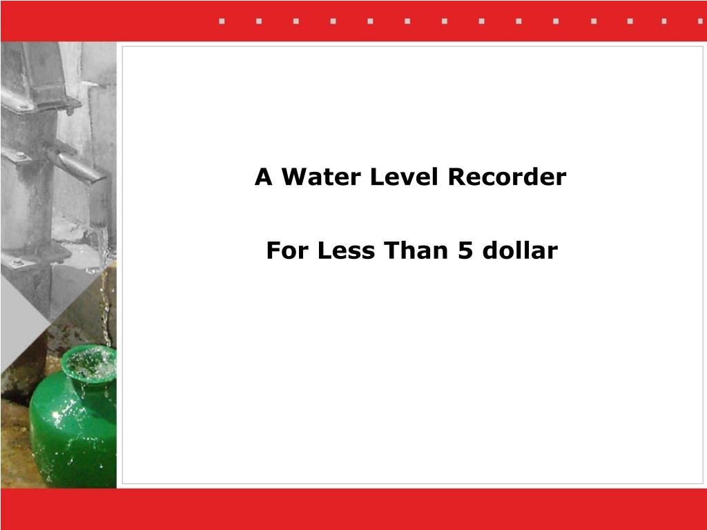 a water level recorder l.