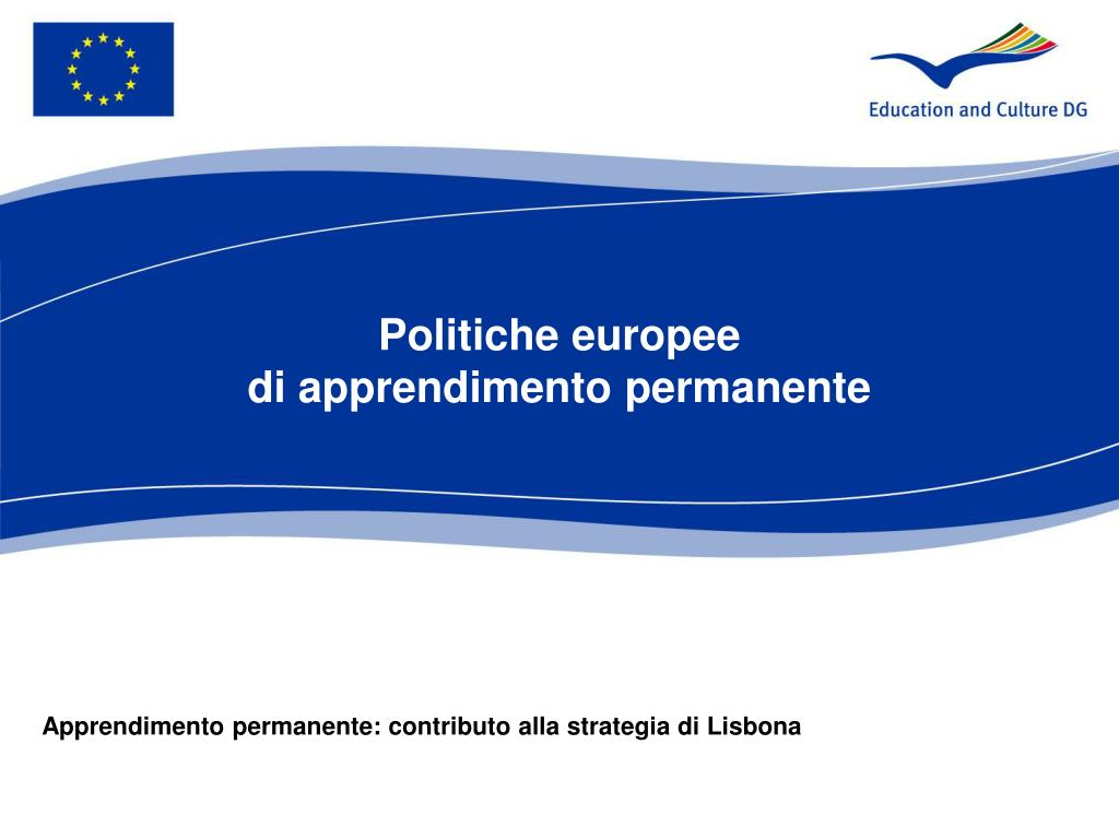 politiche europee di apprendimento permanente l.