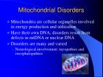 mitochondrial disorders