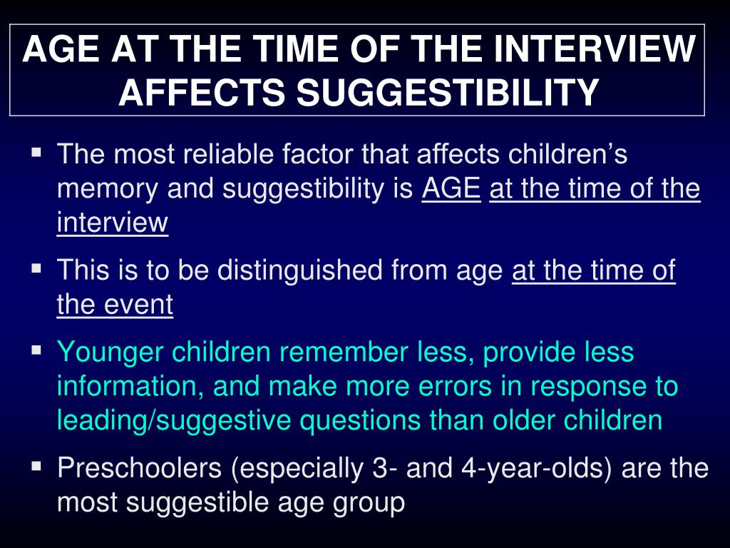 AGE AT THE TIME OF THE INTERVIEW