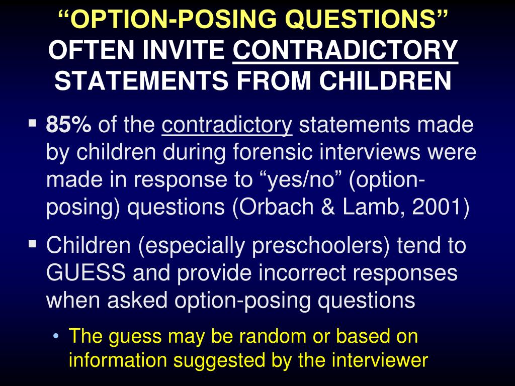 """""""OPTION-POSING QUESTIONS"""""""
