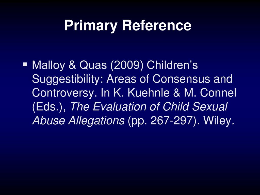 Primary Reference