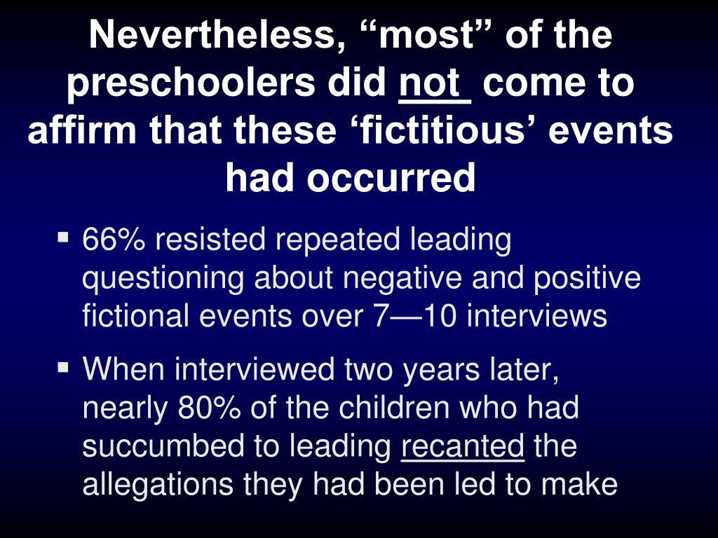 """Nevertheless, """"most"""" of the preschoolers did"""