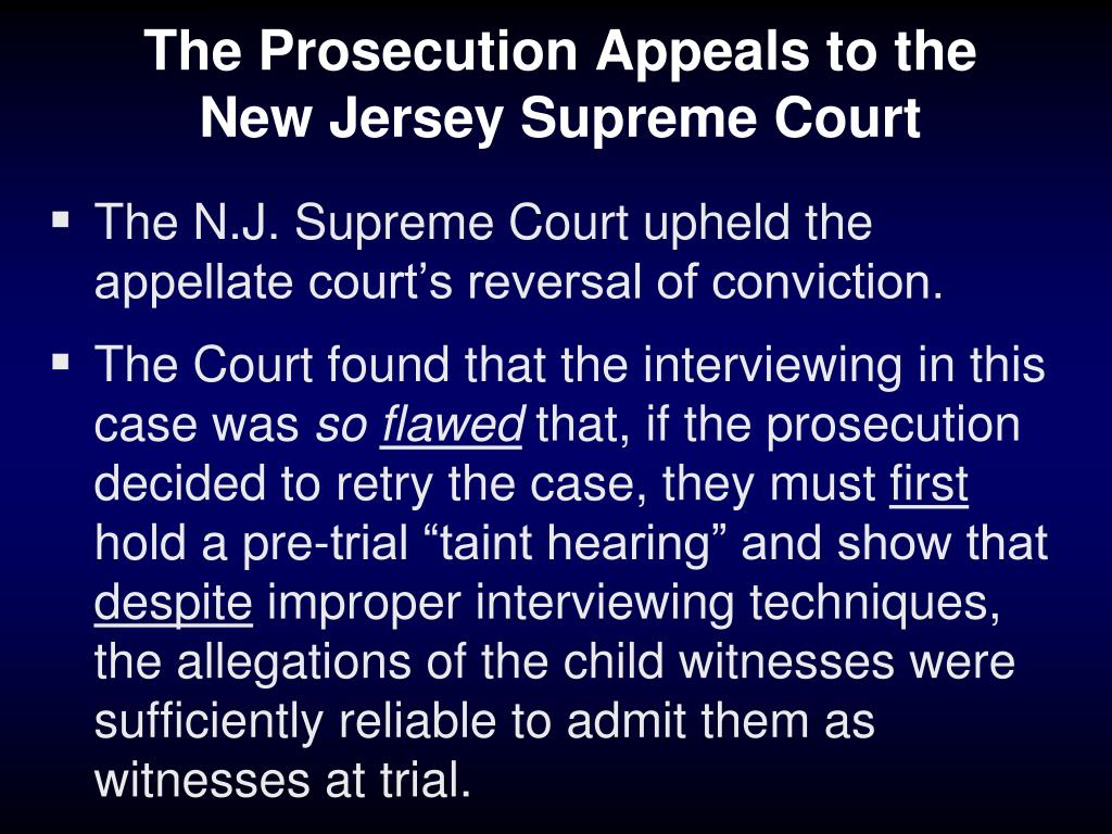 The Prosecution Appeals to the