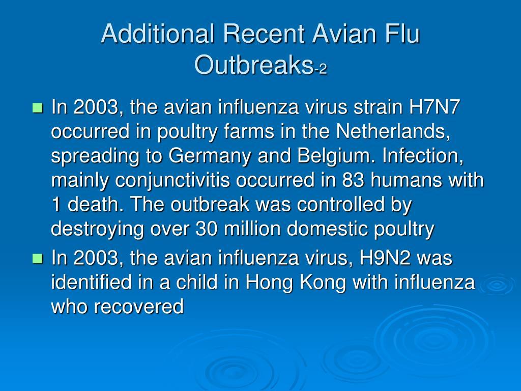 Additional Recent Avian Flu