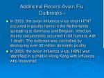additional recent avian flu outbreaks 2