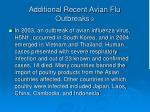 additional recent avian flu outbreaks 3