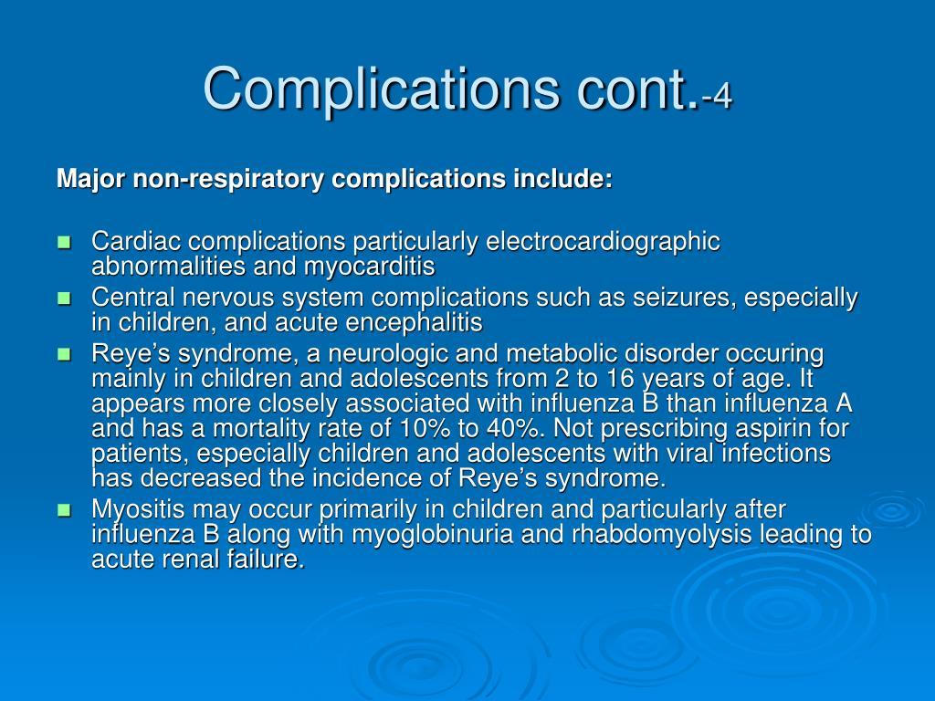 Complications cont.