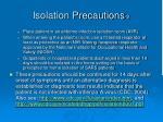 isolation precautions 2