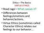 ethics the basics virtue ethics