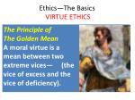 ethics the basics virtue ethics10