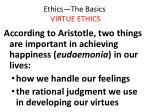 ethics the basics virtue ethics14