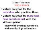ethics the basics virtue ethics24