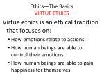ethics the basics virtue ethics3