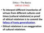 ethics the basics virtue ethics31