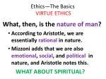 ethics the basics virtue ethics32