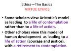 ethics the basics virtue ethics34