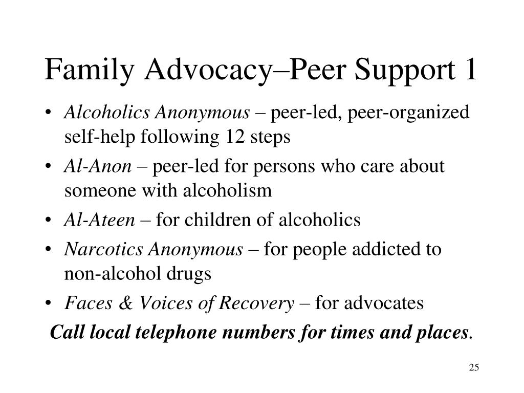 Family Advocacy–Peer Support 1