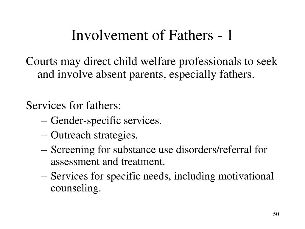 Involvement of Fathers - 1