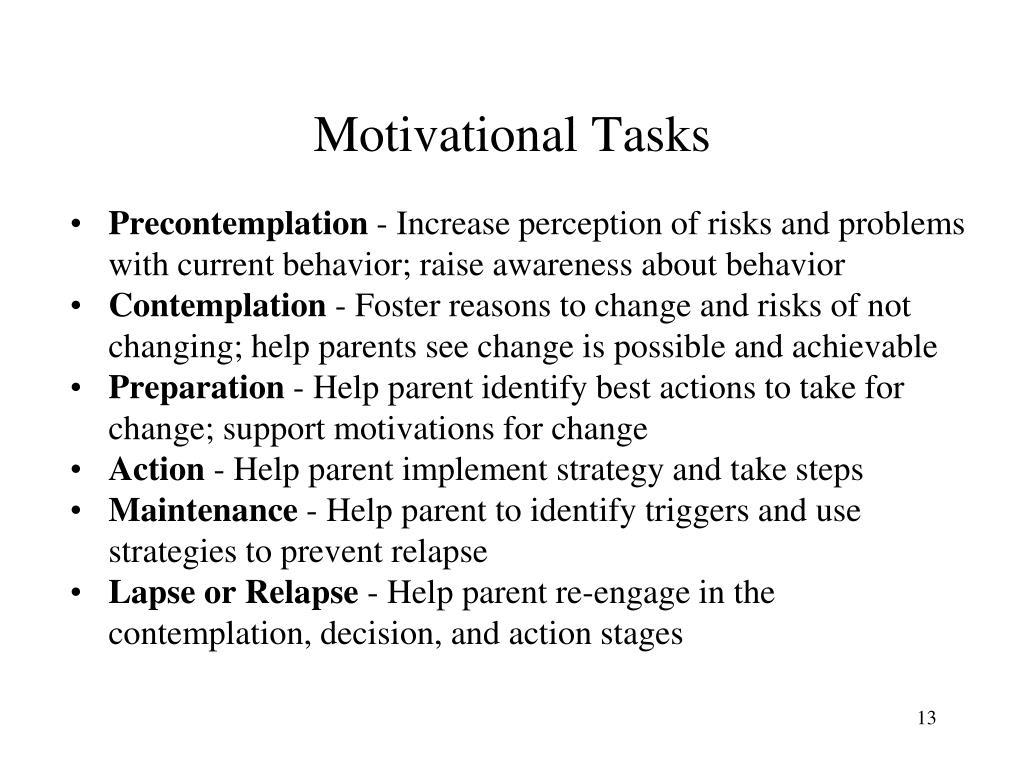 Motivational Tasks