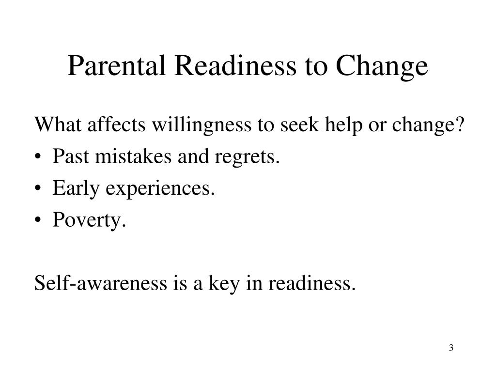 Parental Readiness to Change