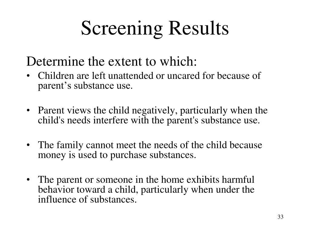 Screening Results