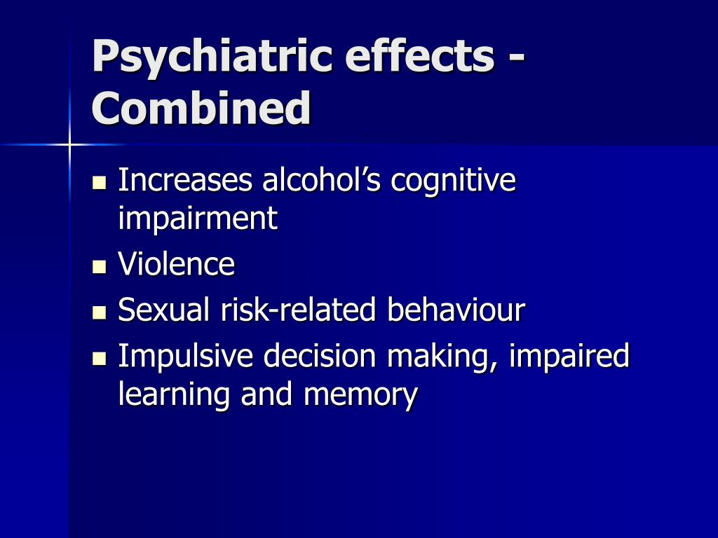 Psychiatric effects - Combined