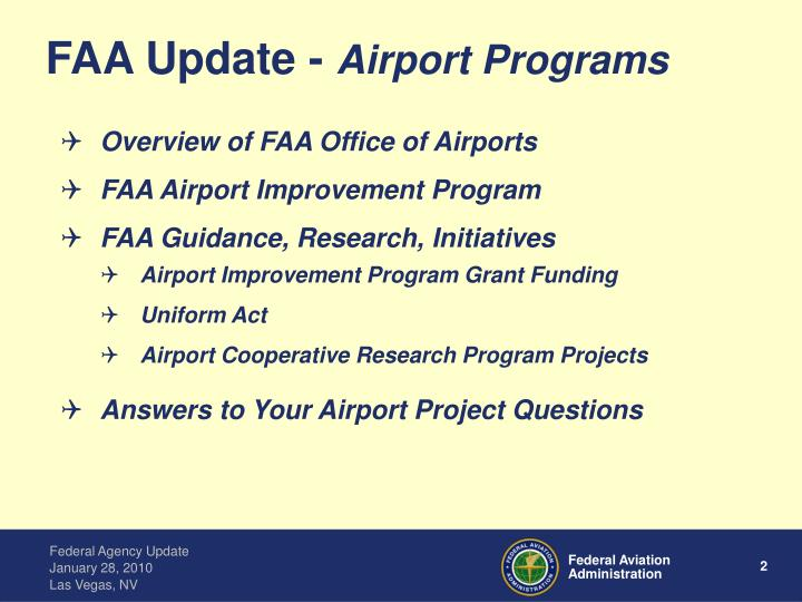 Ppt Rick Etter Airport Acquisition Specialist Faa