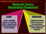 biosocial theory biochemical perspective