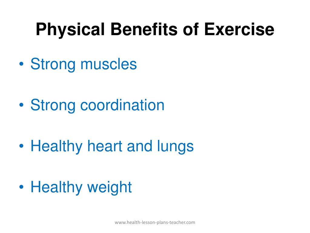 Physical Benefits of Exercise