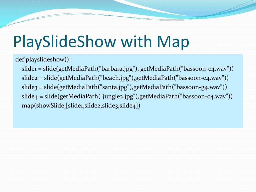 PlaySlideShow with Map