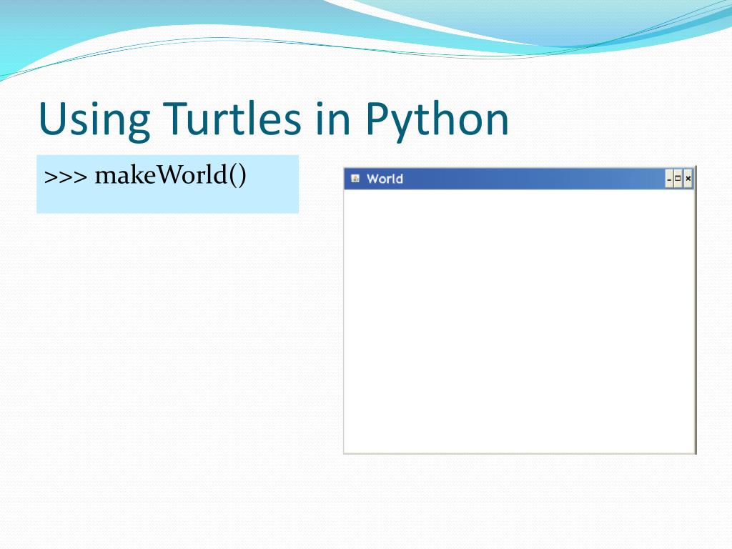 Using Turtles in Python